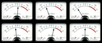 VU meter - Surround audio VU meter graphic