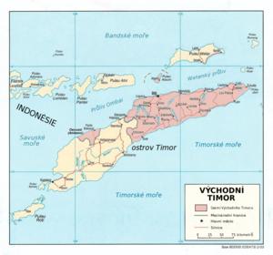 Mapa Východního Timoru