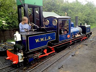 Wells and Walsingham Light Railway - Image: W&WLR Locomotive at Wells