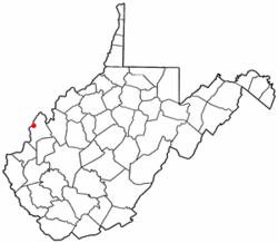 Location of Henderson, West Virginia