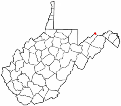 Location of Wiley Ford, West Virginia