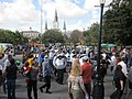 WWOZ 30th Birthday Parade Cathedral Sousaphone.JPG