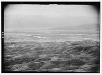 Wady Shaib Es-Salt, Amman, etc. Jordan Valley from Osha. An infra-red telephoto showing joining of the Jabbok and Jordan rivers. LOC matpc.02739.jpg