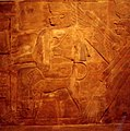Wall of Meroe Pyramid chapel Amanitenmomide 1988.jpg