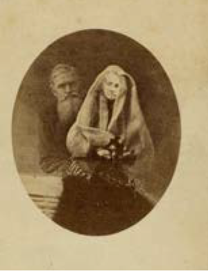 Frederick Hudson (photographer) - Spirit photograph taken by Hudson of Alfred Russel Wallace and his mother.