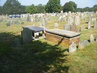 Common Burying Ground and Island Cemetery - Image: Ward.Samuel&Richard. grave site.Com Bur Gnd.20110722