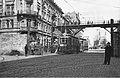 Warsaw Ghetto Footbridge viewed from Żelazna Street.jpg