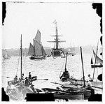 Warship, ketch, yachts and spectator craft at Farm Cove, Sydney (7505368816).jpg