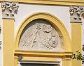 Warszawa - pałac wilanowski - wystrój rzeźbiarski elewacji od strony dziedzińca - ZJ007.jpg