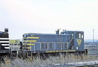 Washington and Old Dominion Railroad - Image: Washington and Old Dominion switcher at Riverside Yard, January 1969