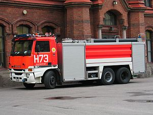 Water tender - A water tender in Finland