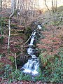 Waterfall in stream, Ystwyth gorge - geograph.org.uk - 1083102.jpg