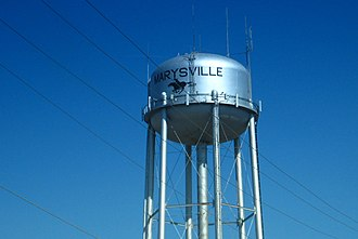 Marysville, Kansas - Marysville water tower (2009)