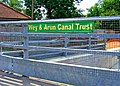 Way and Arun Canal Trust banner on Loxwood Bridge - geograph.org.uk - 1436061.jpg