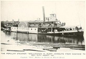 Saginaw River - Wellington R. Burt steamer, 1887