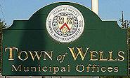 Wells maine municipal offices sign 2006