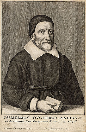 William Oughtred - William Oughtred engraving by Wenceslaus Hollar