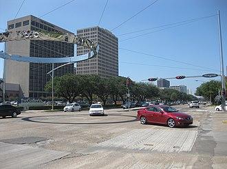 Westheimer Road - Westheimer Road at Post Oak in Uptown Houston