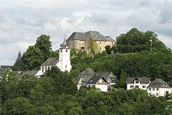 Westerburg Schlossberg the castle and the Evangelical castle church