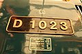 Western Fusilier number plate at the National Railway Museum.jpg