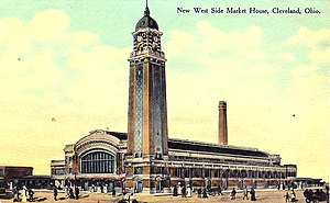 Hubbell & Benes - Circa 1912 postcard of the West Side Market