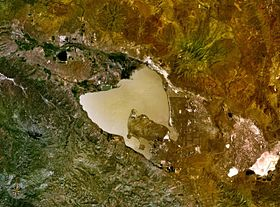 vue satellite du lac Honey