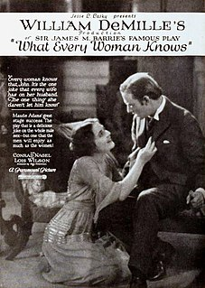 <i>What Every Woman Knows</i> (1921 film) 1921 film
