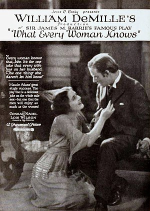 What Every Woman Knows (1921 film) - Advertisement