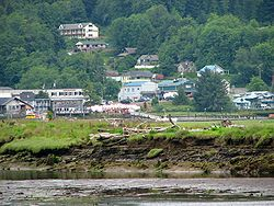 Wheeler, as seen across the Nehalem River estuary