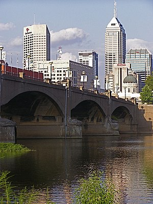 White River State Park - The Old Washington Street Bridge in downtown Indianapolis.