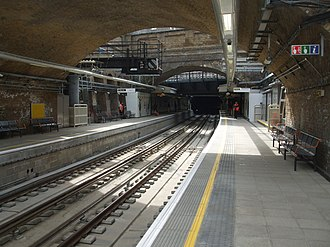 Whitechapel station - The East London Line platforms and tracks were upgraded as part of the East London Line extension.