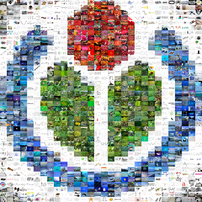 This image is a captured version of Wikimedia logo mosaic. In its history you may see other versions captured daily. Note that the original mosaic contains some animations, so this is not exactly how it looked/looks like.