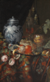 Willem Kalf, dennes kreds, 17. årh. - Opstilling med en hollandsk fajancekrukke, frugter og glas.png