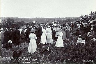 Saskatchewan Grain Growers' Association - William Charles Sutherland (Liberal MP) addresses a Saskatchewan Grain Growers' Picnic at Eagle Creek on 19 July 1911