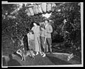 William Faversham, Julie Opp and sons William, Jr. and Philip posed in the Rosemary Open-Air Theatre, Huntington, Long Island, site of the National Red Cross Pageant, Oct. 5, 1917) - Bangs, LCCN2005695722.jpg