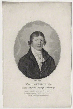 William Frend (reformer) - William Frend, 1793 engraving by Andrew Birrell, after Sylvester Harding.