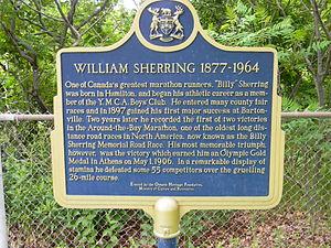 Billy Sherring - Plaque in Hamilton