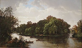 Lake Scene, Boating