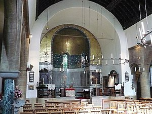 Barnsley brothers - Interior showing chancel section of above church