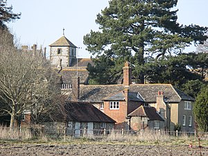 Wiston, West Sussex - Image: Wiston House buildings