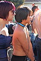 Woman on leash at Folsom Street Fair 2012.jpg