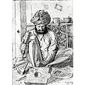 Wood Carver at Shimla, pencil and ink drawing by John Lockwood Kipling, 1870.jpg