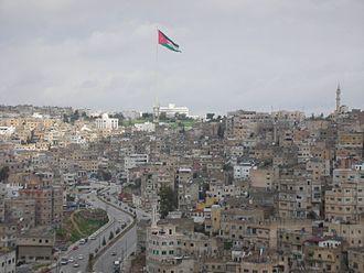 Raghadan Flagpole - A view of Amman with the Raghadan Flagpole