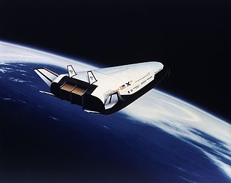 Lockheed Martin X-33 - Space art of X-33 in orbit