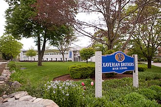 Xaverian Brothers High School - Main entrance to XBHS