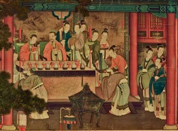 Xiwangmu visiting Emperor Wu of Han