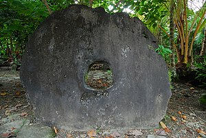 Rai stones - Rai stone at Yap.