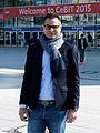 Yasser Elshantaf, CeBIT 2015.jpg