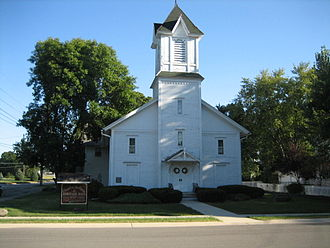 National Register of Historic Places listings in Kendall County, Illinois - Image: Yorkville IL Chapel on the Green 3