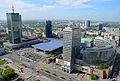 Złote Tarasy Dworzec Warszawa Centralna widziane z PKiN.JPG